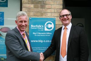New Chief Executive Chris Bushby (left) with outgoing Chief Executive Daniel Williams (right).